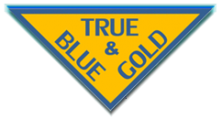 True Blue and Gold Store Logo..